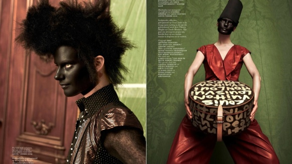 Vogue Netherlands black face models